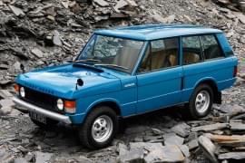 Range Rover auf Schotter