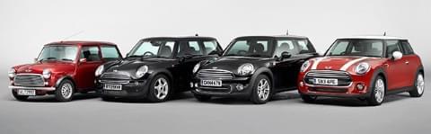 Vier Generationen Mini bis BMW