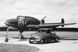 Saab 92 und Saab J21