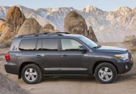 Toyota Land Cruiser изглед отстрани